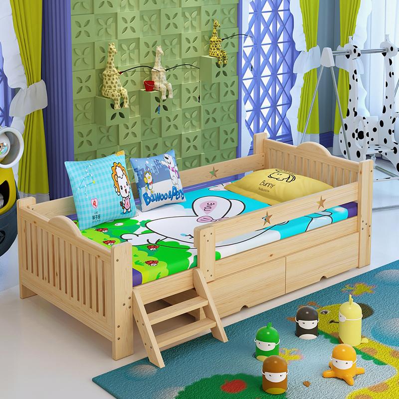 SC0229 ecológico de madera maciza cama de niños individuales con ...