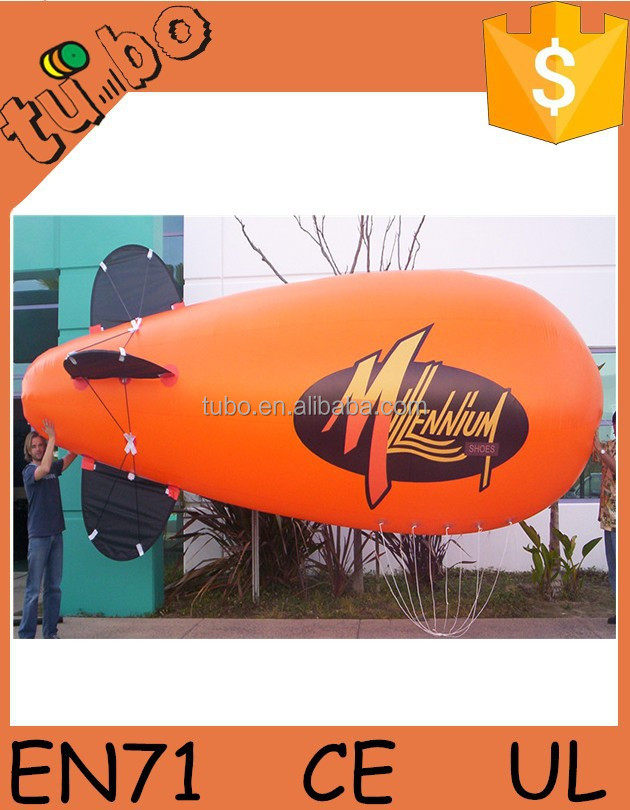 Custom logo inflatable sky blimp for advertising , rc inflatable airship with light