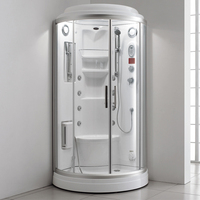 ARROW branded Luxurious arc shape 6mm glass thickness computer wet steam shower cabin