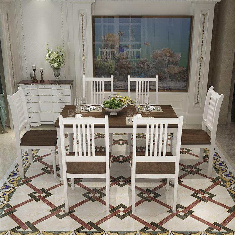 SC0561 lujo muebles para cocina mesa de comedor y sillas de madera ...