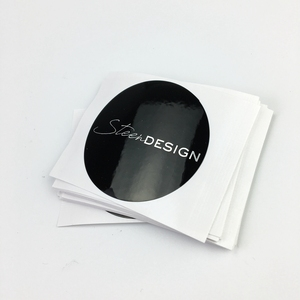 New Stly Custom Logo Paper Round Stickers Wholesale Customs Data