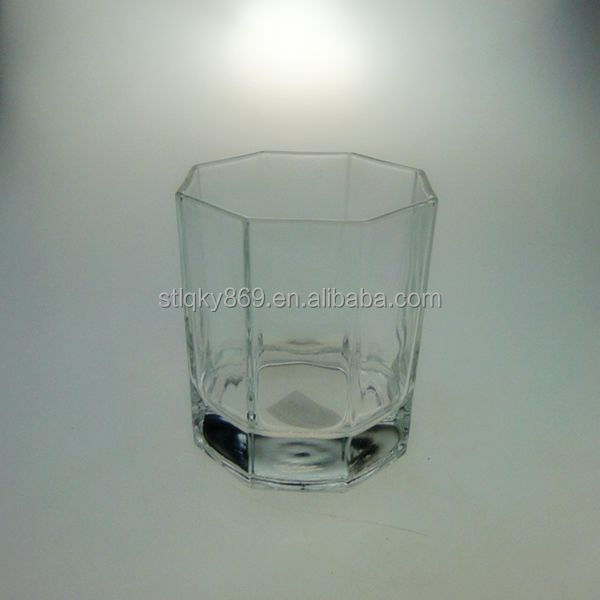 Red bull energy drinks 250 ml glass cup Octagon shape design wine glass drinkware