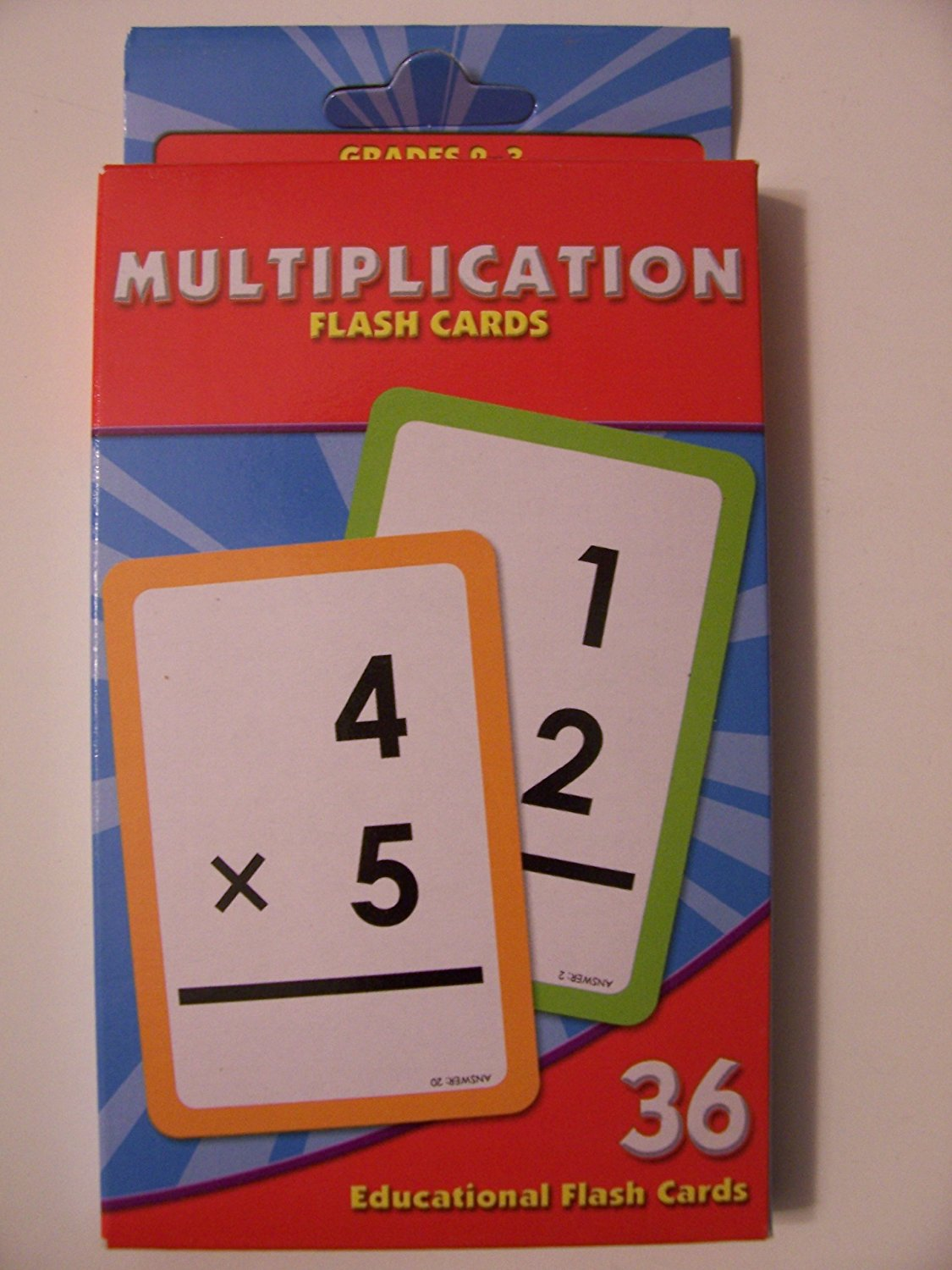 Educational Flash Cards ~ Multiplication (36 Flash Cards; Grades 2-3)