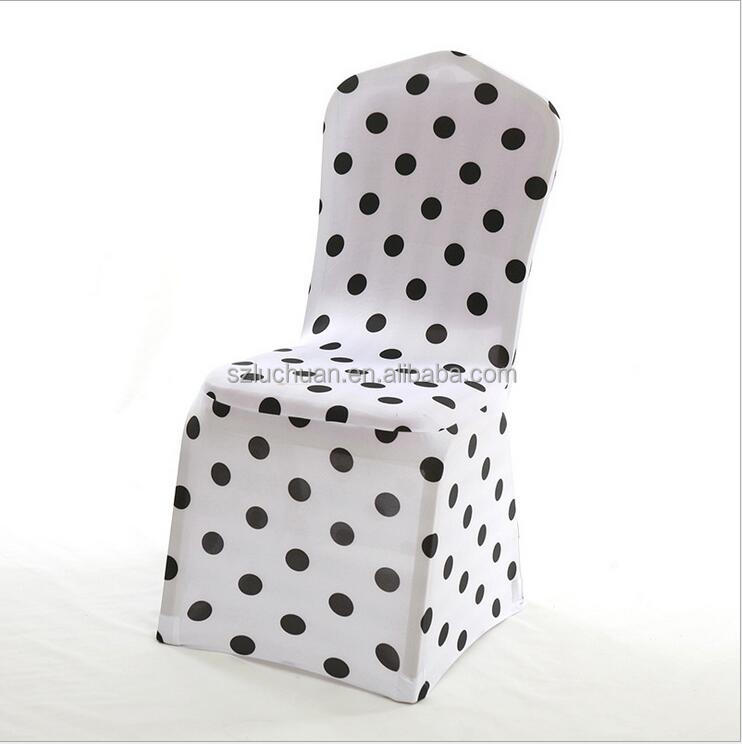 Wholesale Polyester and Spandex Printing Dining Room Chair Cover