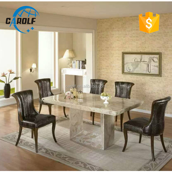 foshan luxury marble furniture stone dining table set with 8 chairs & Foshan Luxury Marble Furniture Stone Dining Table Set With 8 Chairs ...