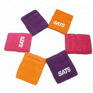 logo customized 100% cotton sweatband/wristband set