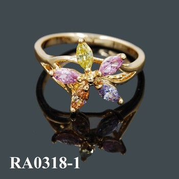 Fashion Cubic Zirconia Ring Jewelry Beautiful Gold Rings Designs