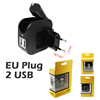 European outlet adapter/european travel plug adapter for car/2 usb car charger adapter