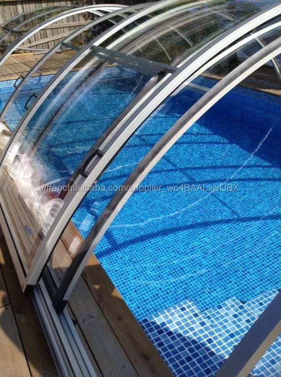 En polycarbonate rétractable Commercial grand spa de nage et toit ...