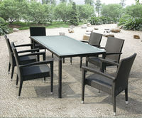 2014 hot sale modern patio furniture outdoor rattan dining table chairs