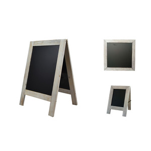 all style of white washed rustic framed black chalk writing bulletin board