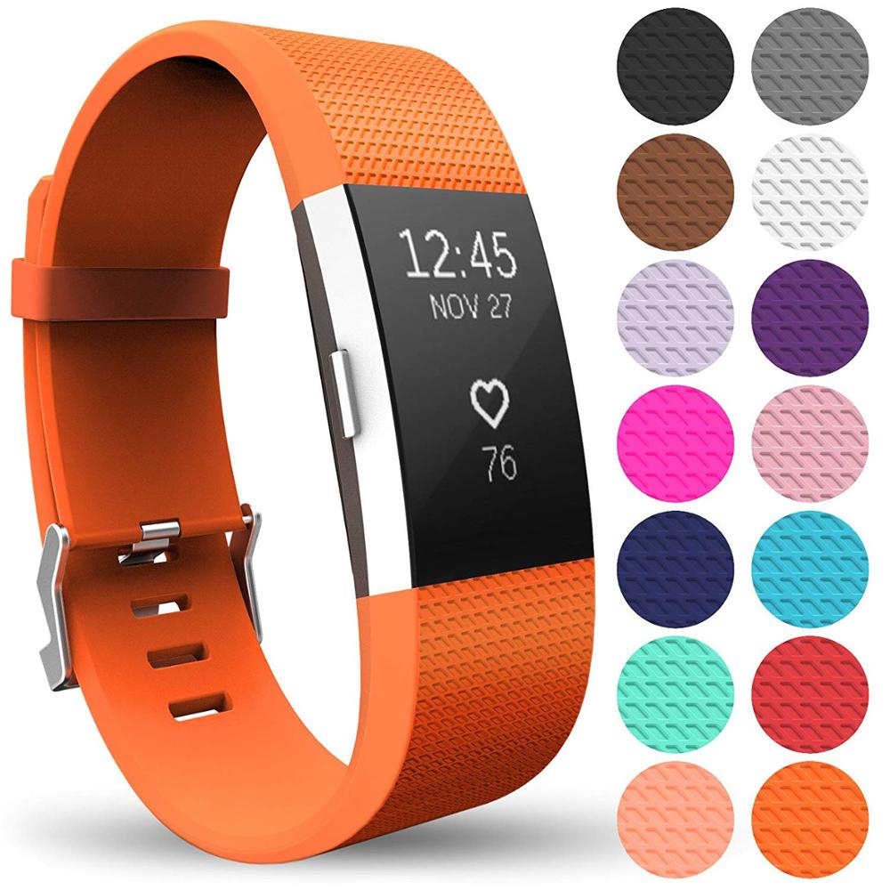 New Fashion Sports Silicone Bracelet Strap For Fitbit Charge 2 Watch Strap фото