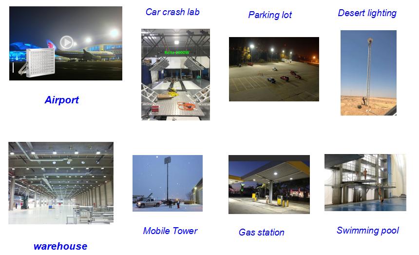High brightness long lifespan ip67 waterproof  led flood light 200w 300w 400w 500w 1000w for mining lighting
