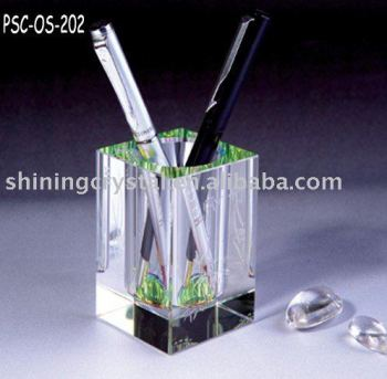 crystal office stationery stationery set pen holder