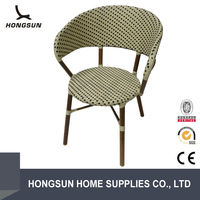 Good quality rattan restaurant outdoor chair table