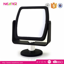 Desk double side makeup mirror with magnifying cosmetic mirror