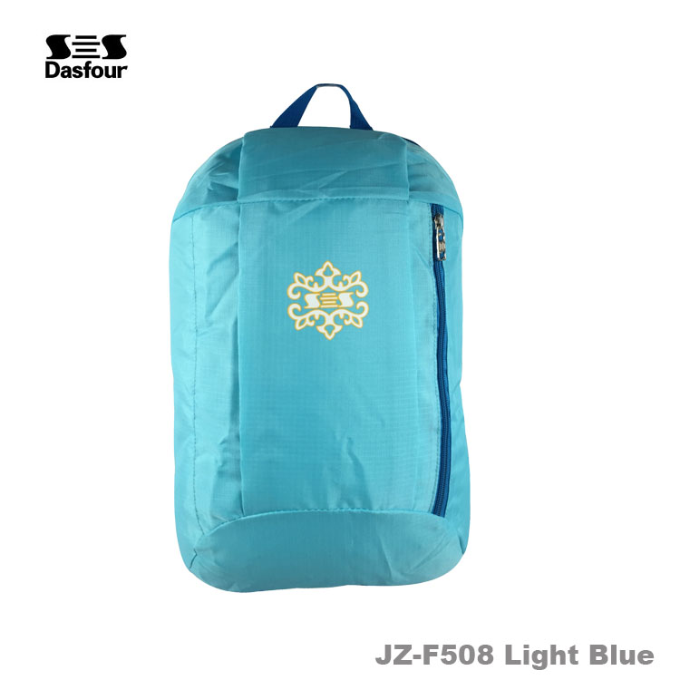 In Stock camping custom travel polyester foldable backpack