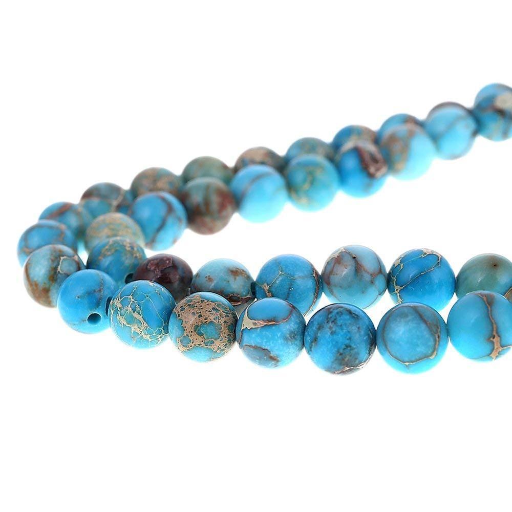 Blue Imperial Jasper Gemstone Loose Beads