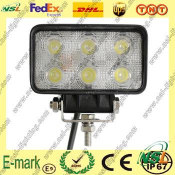 IP67 waterproof 18w led work lights square led lighting for boats