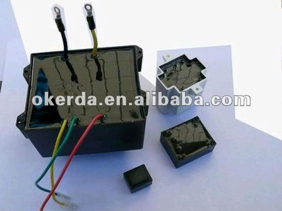 ei encapsulated lead wire low frequency transformer