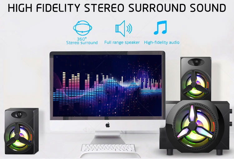 4 Inch 40W Power best sound quality subwoofer computer 2.1 bluetooth stereo speaker with fm
