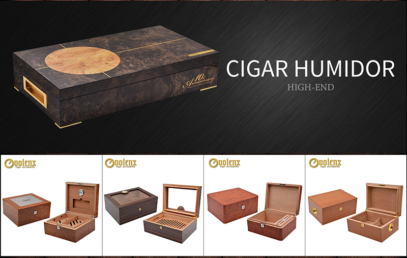 Wholesale Matt Finished Mahogany Wood Cigar Box Humidor