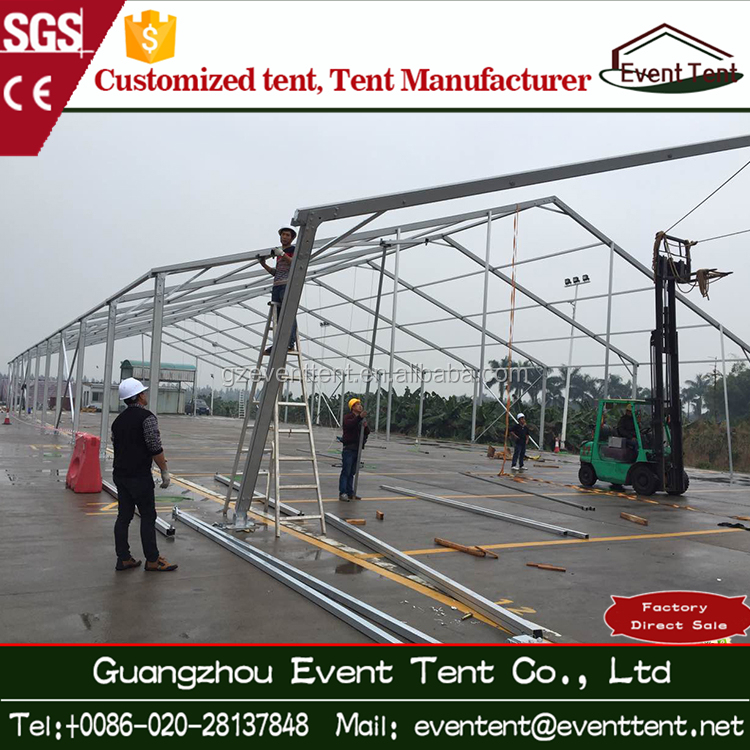 2017 30meters wide big hard wall aluminum frame used warehouse tents for sale