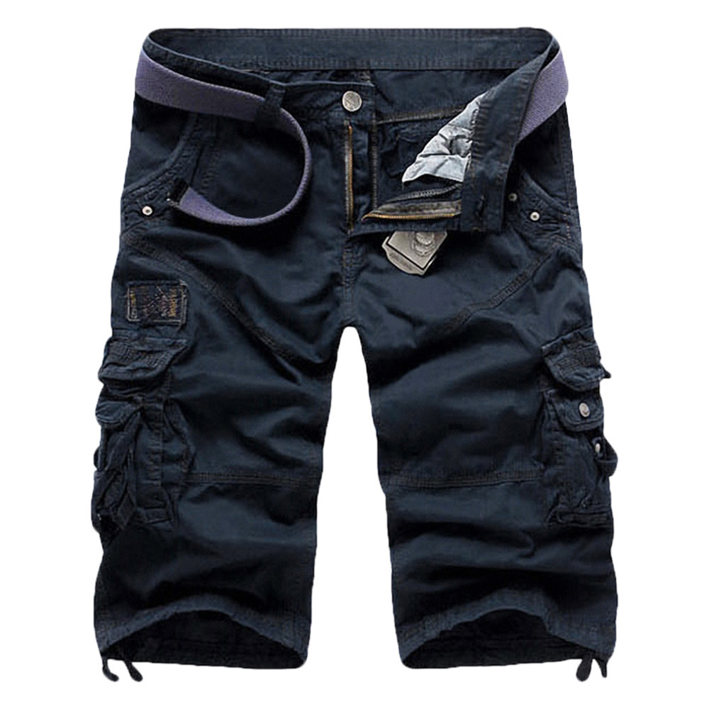fd4ad8cfa6 Get Quotations · Summer Calf-Length Pants Loose Straight Military Board Pants  Mens Cotton Outdoor Casual Cargo Pants