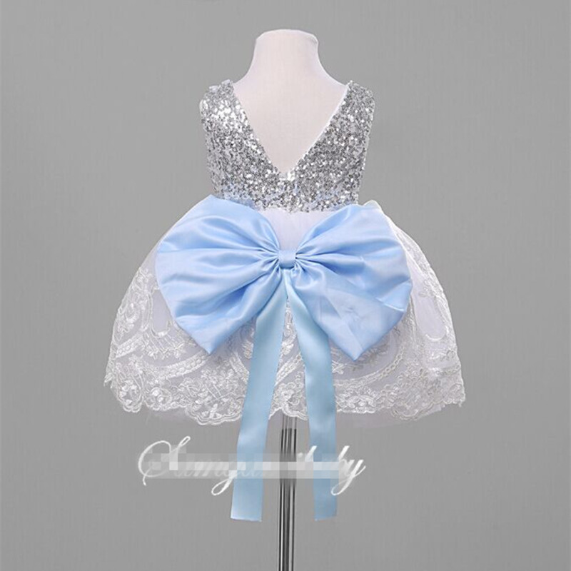 96528d740b31 2017 High Quality Children Frock Design Sequins Baby Girl Puffy ...
