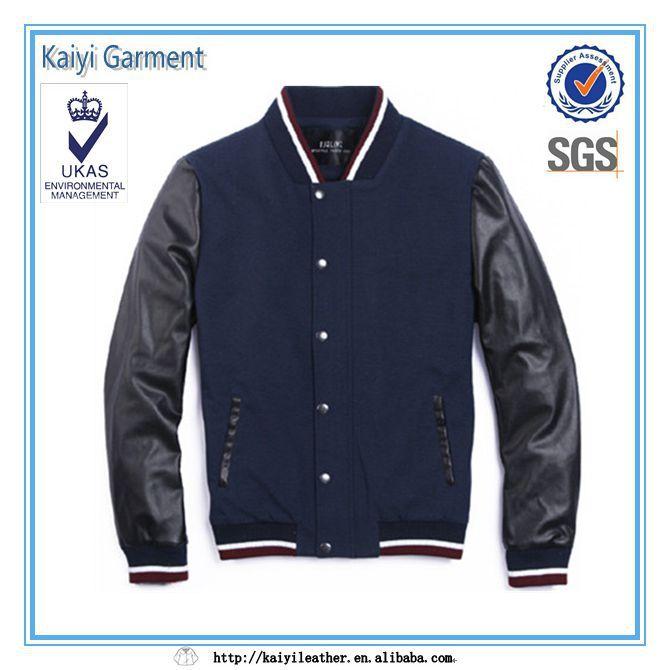 directa de la fábrica de cuero azul marino de manga de fútbol americano  chaquetas para los 6a19eef3a1594