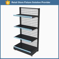 Single Side Wire Mesh Board Grocery Store Gondola Metal Shelf