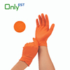 New product Safety Protective Thickness orange diamond dotted colored nitrile gloves