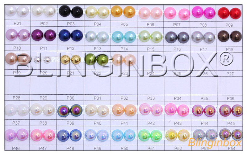 New fading color plastic ABS half round flatback pearls use for nail art