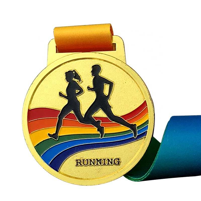 Customized <strong>Logo</strong> In Store Round Medal for Marathon Soft Enamel Medal Running