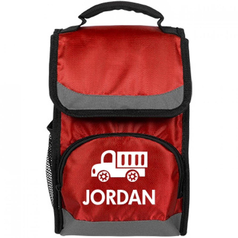 ed097cf0e3f902 Get Quotations · Kids Truck Lunch Bag For Jordan  Port Authority Flap Lunch  Cooler Bag