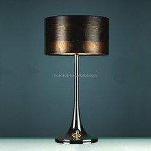 hot selling parchment shade modern guestroom table lamp, bedroom lighting