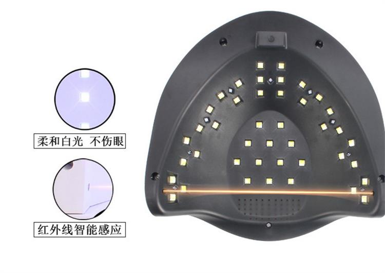 80w infrared auto induction timer setting soft white light uv led gel dryer nail lamp with handle