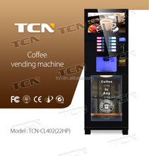 "Factory supply Floor standing type coffee vending machine with 22"" LCD screen TCN-CL402(22HP)"