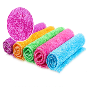 dish cleaning scouring pad magic kitchen cleaning towel eco-friendly durable bamboo cloth