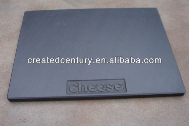Slate cheese board plate with engraved logo