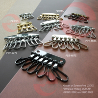 Plating nickel free snap hook key ring in bulk price