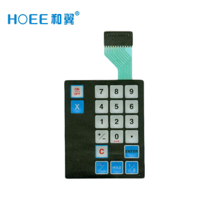 china one button membrane switch backlight for touch screen