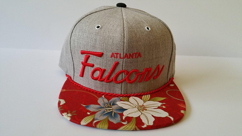 sports shoes 7045d 3bd6e Get Quotations · Mitchell and Ness NFL Atlanta Falcons Custom Snapback Cap,  Hat   Flowers