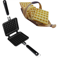 Baking Tools Gas Ovens Non Stick Aluminium Alloy Waffle Cake Mould Bakeware