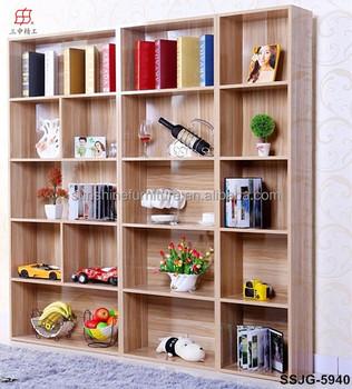 Cheap Wooden Library Book Rack Bookshelf School