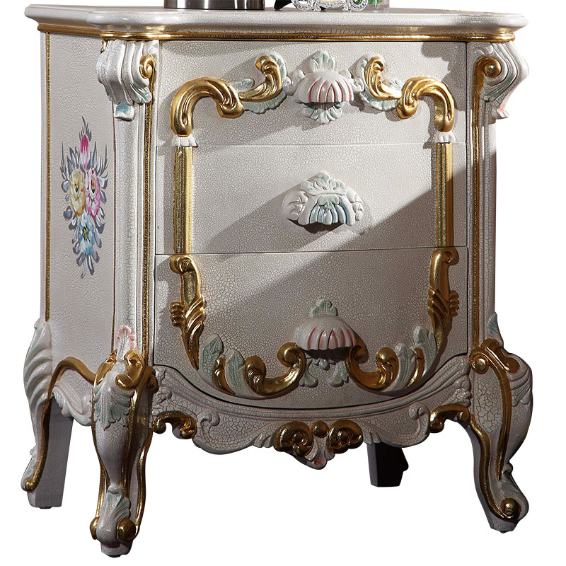 Rococo Style Bedside Cabinet Antique Classic Furniture Bedstand