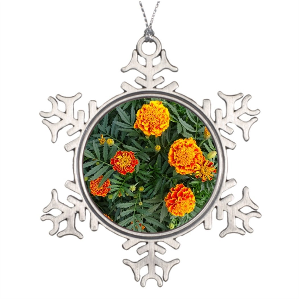 SS OPER Xmas Trees Decorated French Marigolds Large Outdoor Snowflake Ornaments