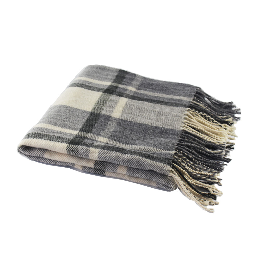 New high-grade gray plaid men's <strong>scarf</strong> thick <strong>wool</strong> <strong>scarf</strong>