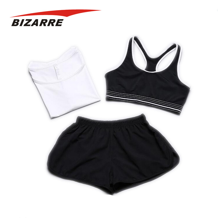 High quality customized compression yoga wear three-piece uniforms