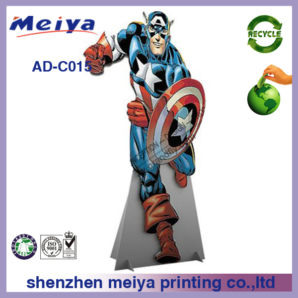 Cartoon characters corrugated cardboard cutouts for advertising, Cartoon characters promotional cutouts display